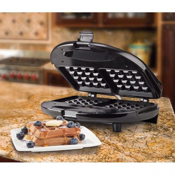 Brentwood Appliances Nonstick Dual Waffle Maker - Black