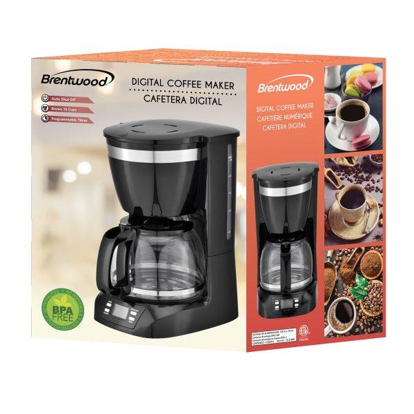 Brentwood Appliances 10-Cup Digital Coffee Maker - Black