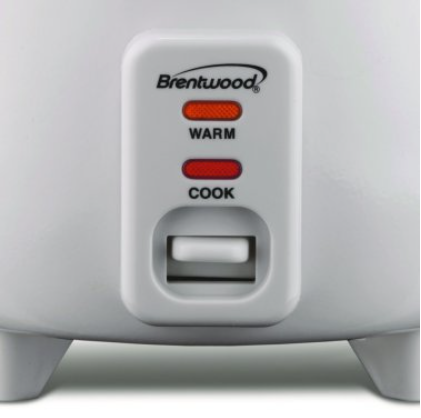 Brentwood Appliances 5-Cups Rice Cooker with Food Steamer