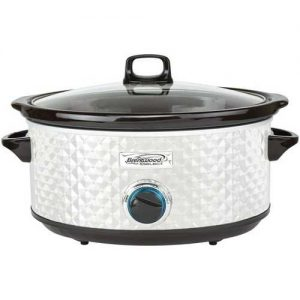 Brentwood Appliances 7-Quart Slow Cooker - Pearl White