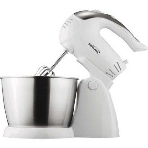 Brentwood Appliances 5-Speed + Turbo Electric Stand Mixer with Bowl - White