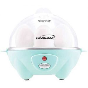 Brentwood Appliances Electric Egg Cooker with Auto Shutoff - Blue