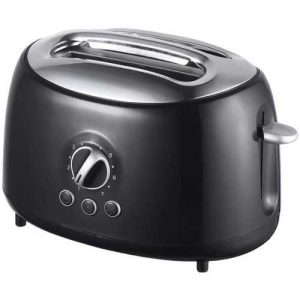 Brentwood Appliances Black Cool-Touch 2-Slice Retro Toaster with Extra-Wide Slots