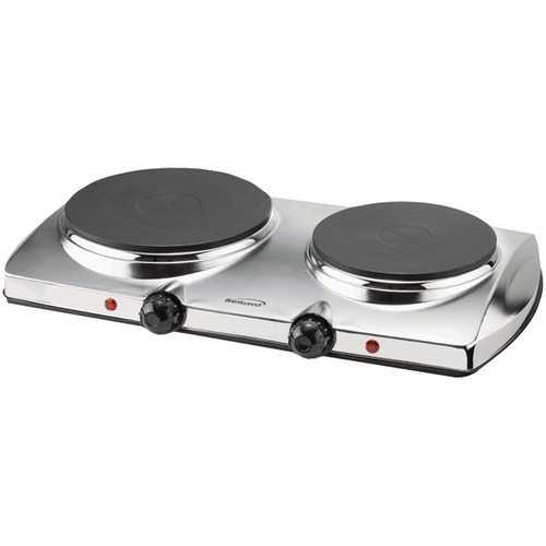 Brentwood Appliances 1,440-Watt Electric Double Hot Plate