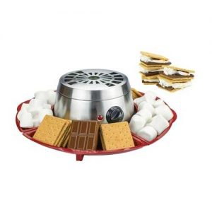 Brentwood Appliances Indoor Electric Stainless Steel S'mores Maker with 4 Trays and 4 Roasting Forks