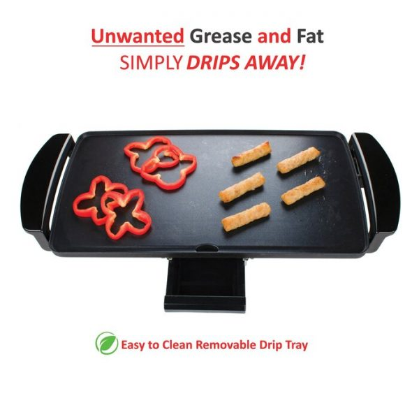 Brentwood Appliances Nonstick Electric Griddle with Drip Pan