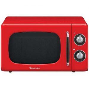 Magic Chef .7 Cubic-ft 700-Watt Retro Microwave (Red)