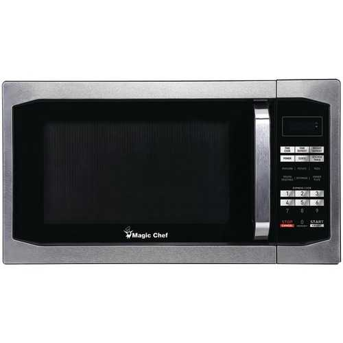 Magic Chef 1.6 Cubic-ft Countertop Microwave (Stainless Steel)