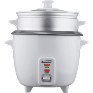 Brentwood 5-Cup Rice Cooker With Steamer