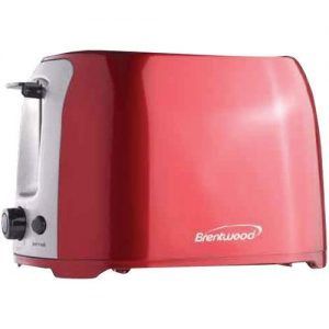 Brentwood 2-slice Cool Touch Toaster Red & Stainless Steel