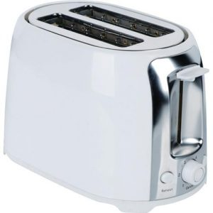 Brentwood White & Stainless Steel 2-slice Cool Touch Toaster