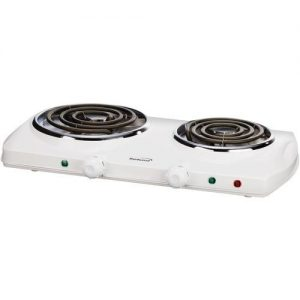 Brentwood White Electric Double Burner