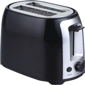 Brentwood 2-slice Cool Touch Toaster - Black & Stainless Steel