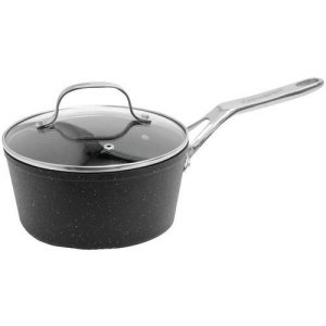The Rock By Starfrit Saucepan With Glass Lid & Stainless Steel Handles (2-quart)