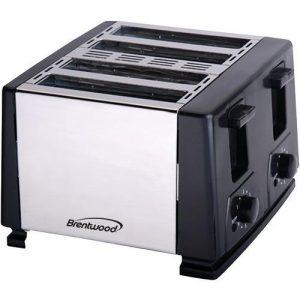 Brentwood Appliances 4 Slice Long Slot Toaster